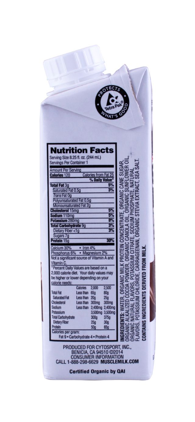 Muscle Milk Organic: MuscleMilk Chocolate Facts