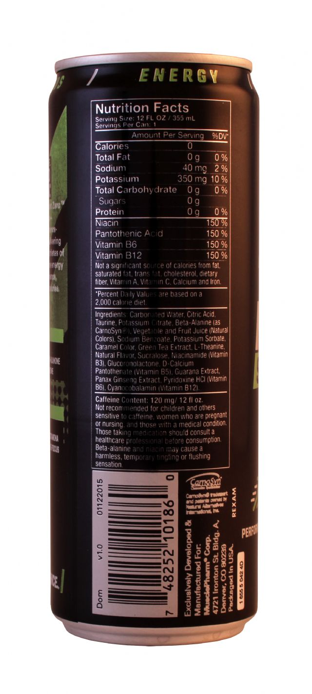 MusclePharm: MP SportZero Facts