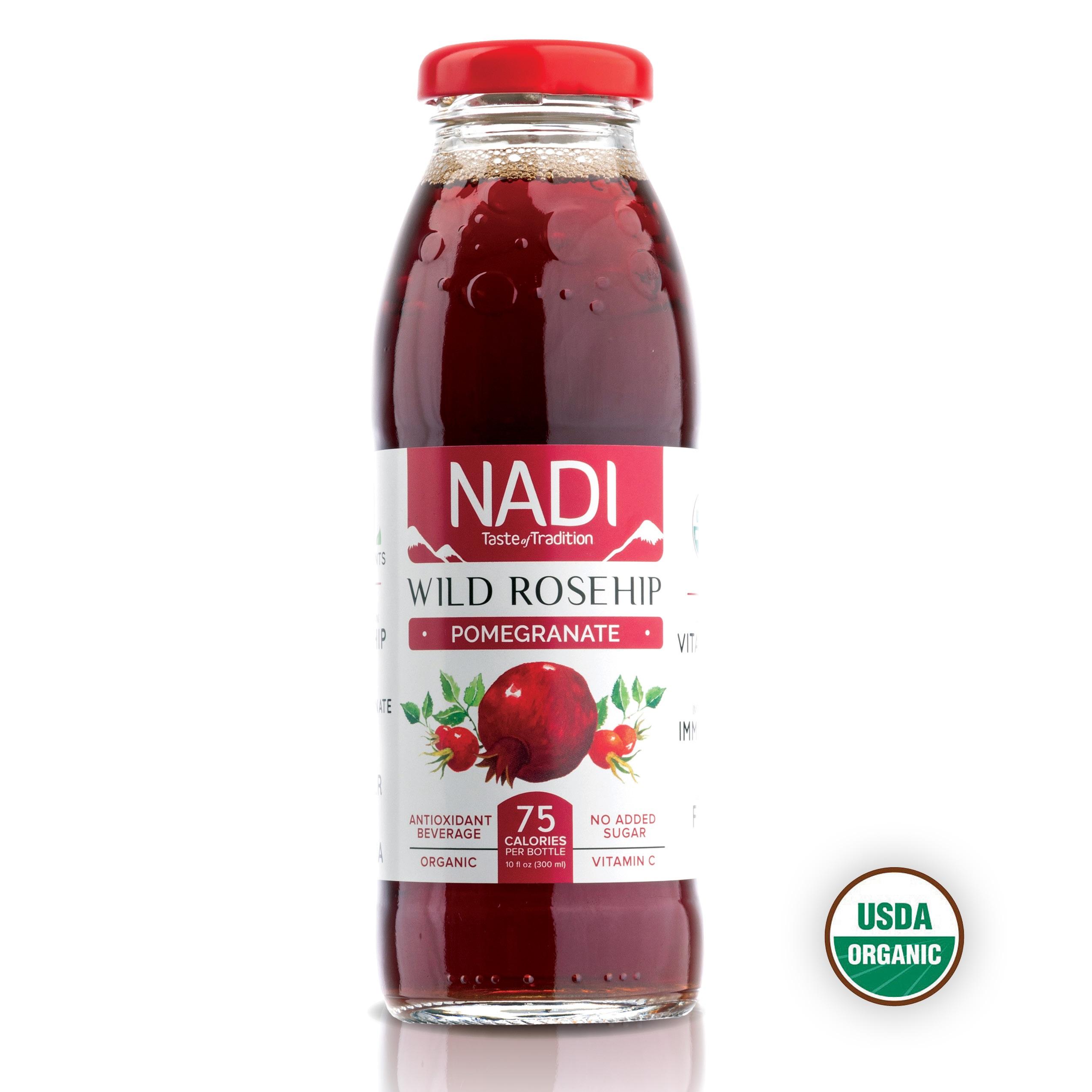 Organic Wild Rosehip Pomegranate Antioxidant Beverage