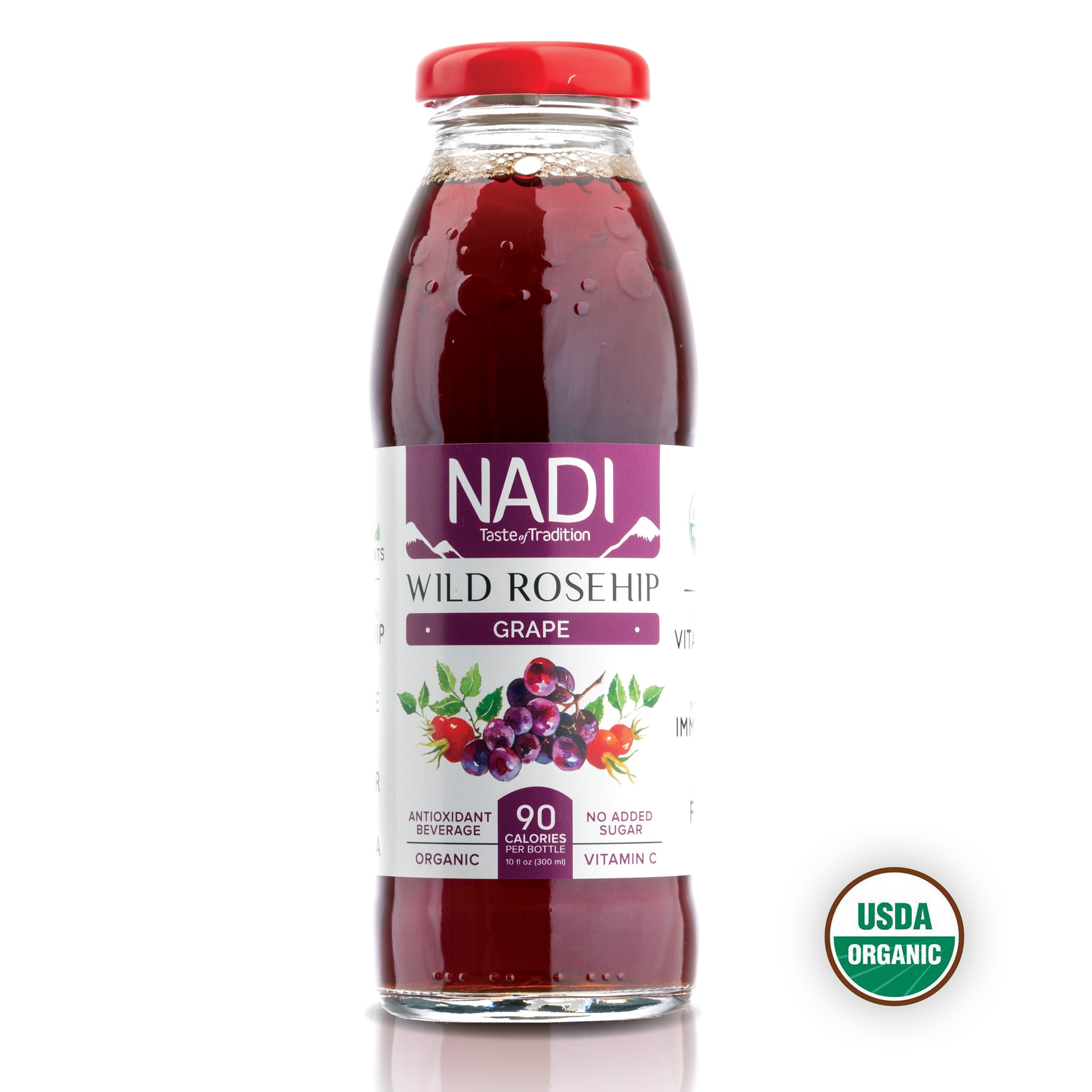 Organic Wild Rosehip Grape Antioxidant Beverage