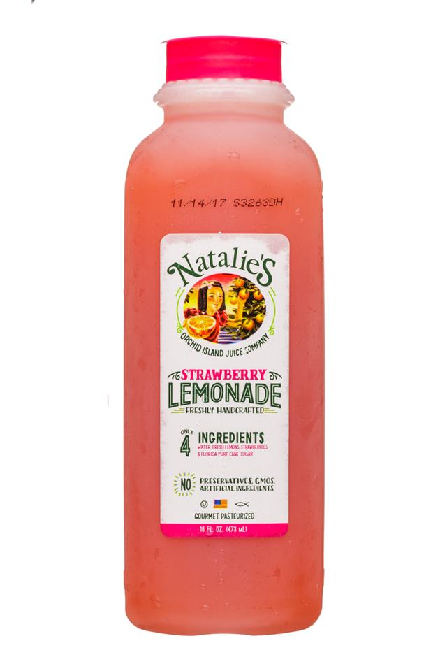 Natalie's: OrchidIsland-Natalies-16oz-Juice-StrawberryLemonade-Front
