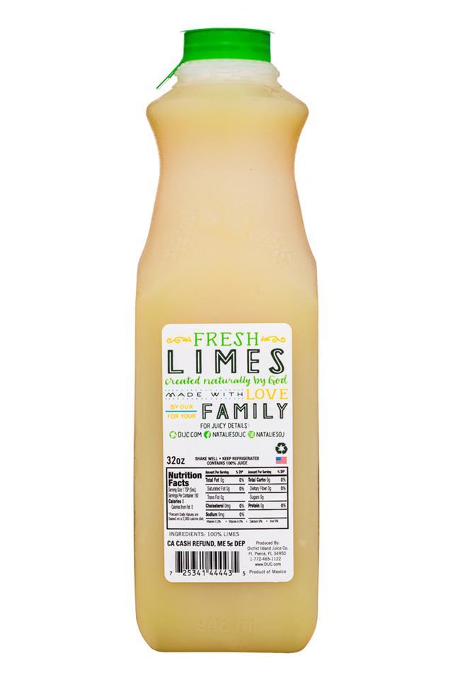 Natalie's: Natalies-32oz-Lime-Facts