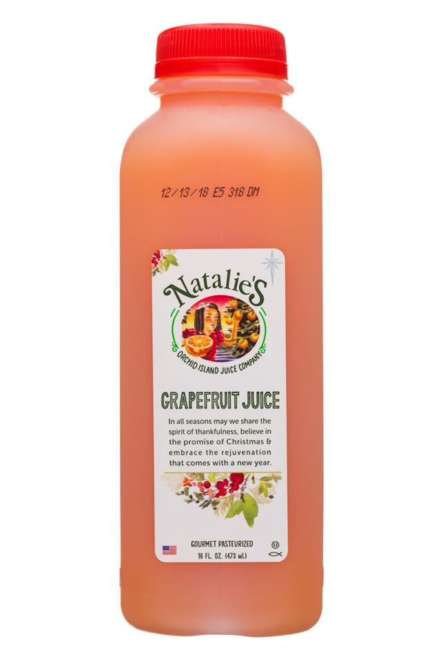 Natalie's: Natalies-16oz-JuiceV2-Grapefruit-Front
