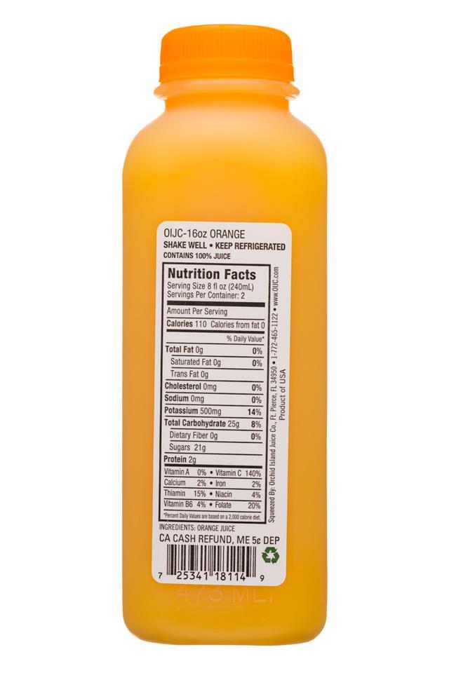 Natalie's: Natalies-16oz-JuiceV2-Orange-Facts