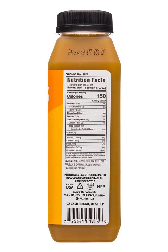Natalie's: Natalies-10oz-ColdPressedJuice-Relax-Facts
