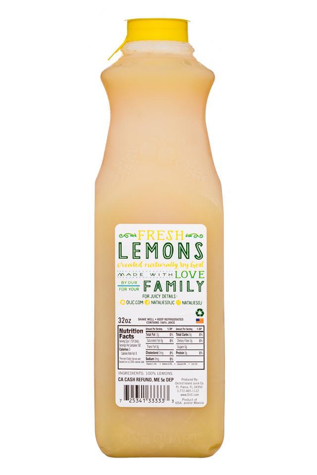 Natalie's: Natalies-32oz-Lemon-Facts