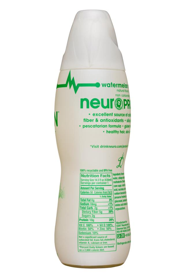 Neuro: Neuro-Protein-15oz-WatermelonMint-Facts