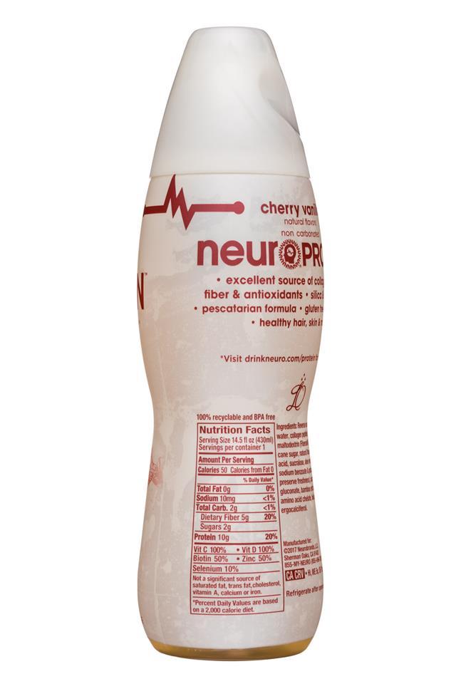 Neuro: Neuro-Protein-15oz-CherryVanilla-Facts
