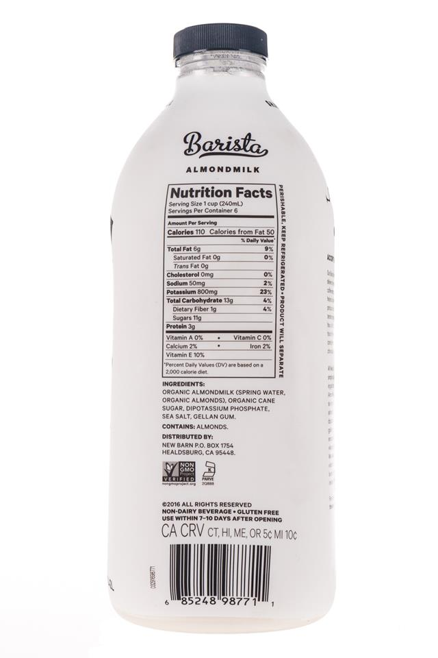 New Barn: NewBarn-Almondmilk-48oz-Facts