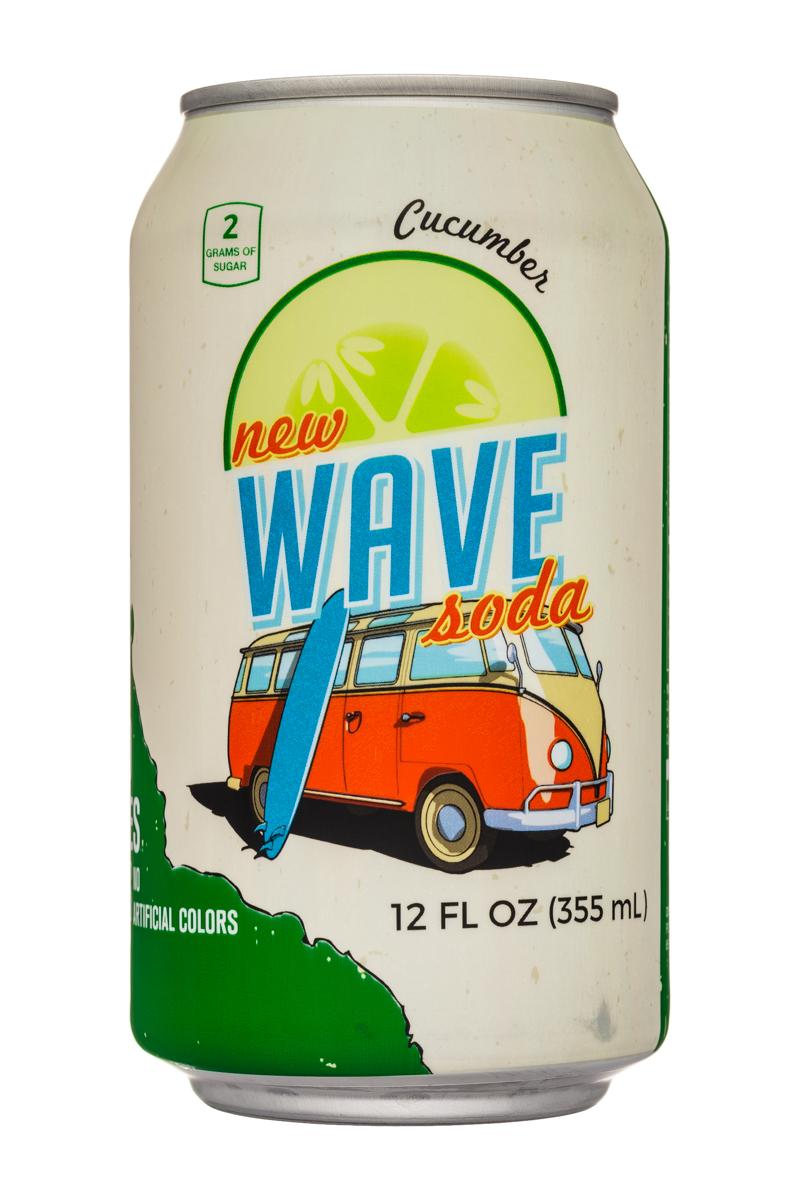 Wave Soda: NewWaveSoda-12oz-Cucumber-Front