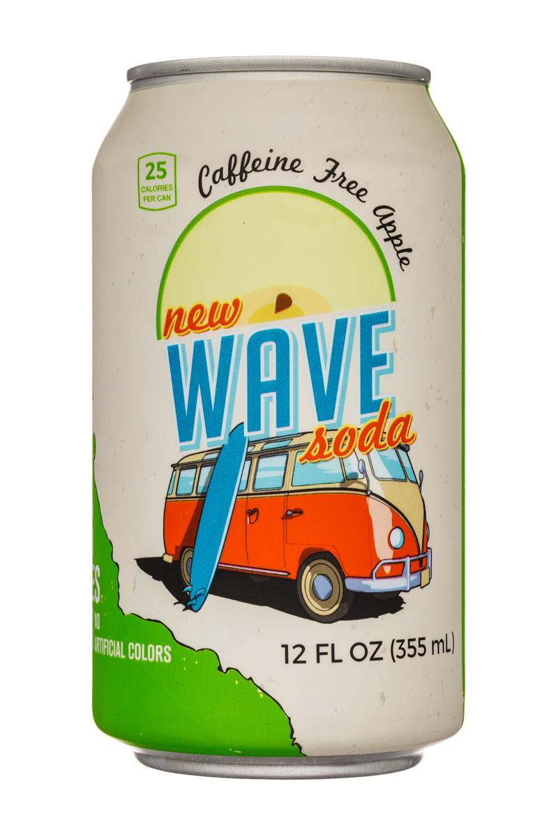 Wave Soda: NewWaveSoda-12oz-CaffeineFreeApple-Front