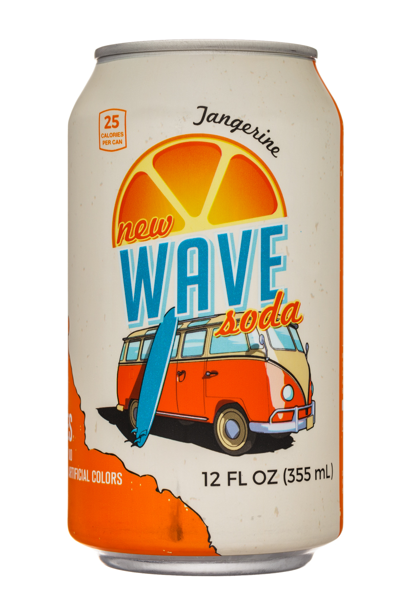 Wave Soda: NewWaveSoda-12oz-Tangerine-Front