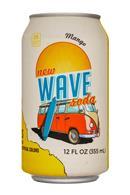 Wave Soda: NewWaveSoda-12oz-Mango-Front
