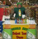 Tim Brown, New Leaf's VP Sales sampling at Jungle Jim's in Ohio.