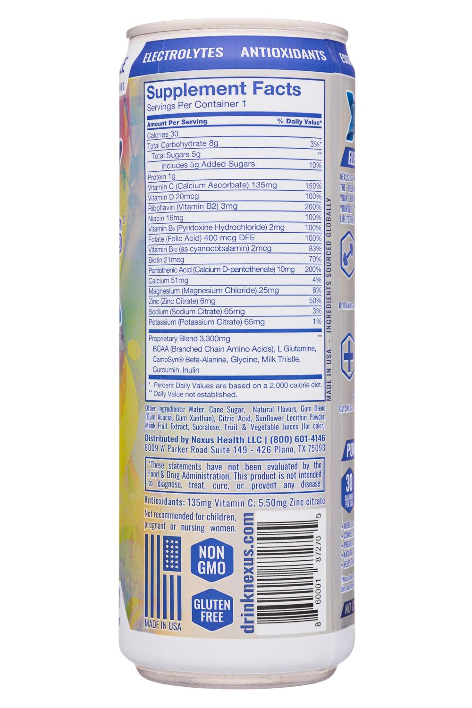 Nexus Energy Drinks: Nexus-12oz-2020-FunctEnergy-PineLychee-Facts
