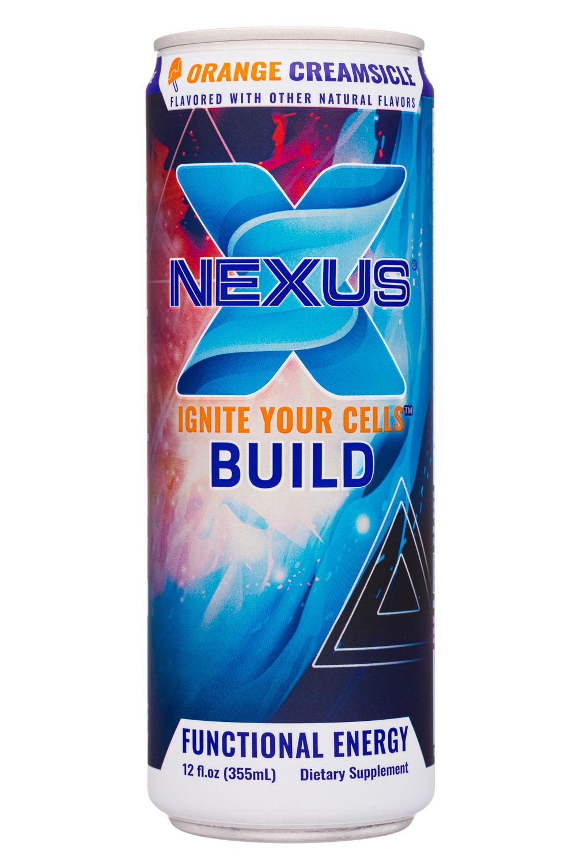 Nexus Energy Drinks: Nexus-12oz-2020-FunctEnergy-OrangeCream-Front