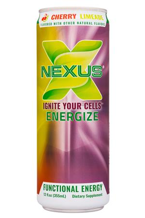 Nexus Energy Drinks: Nexus-12oz-2020-FunctEnergy-CherryLimeade-Front