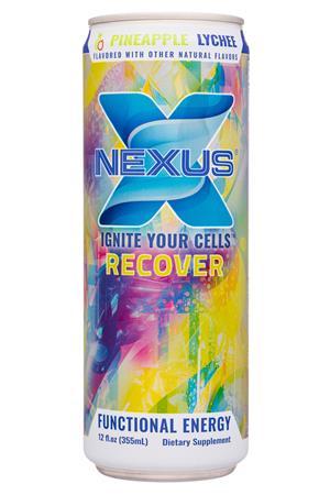 Nexus Energy Drinks: Nexus-12oz-2020-FunctEnergy-PineLychee-Front
