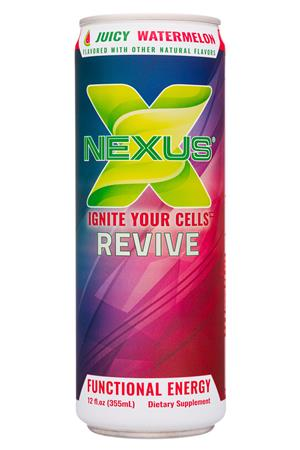 Nexus Energy Drinks: Nexus-12oz-2020-FunctEnergy-JuicyWater-Front