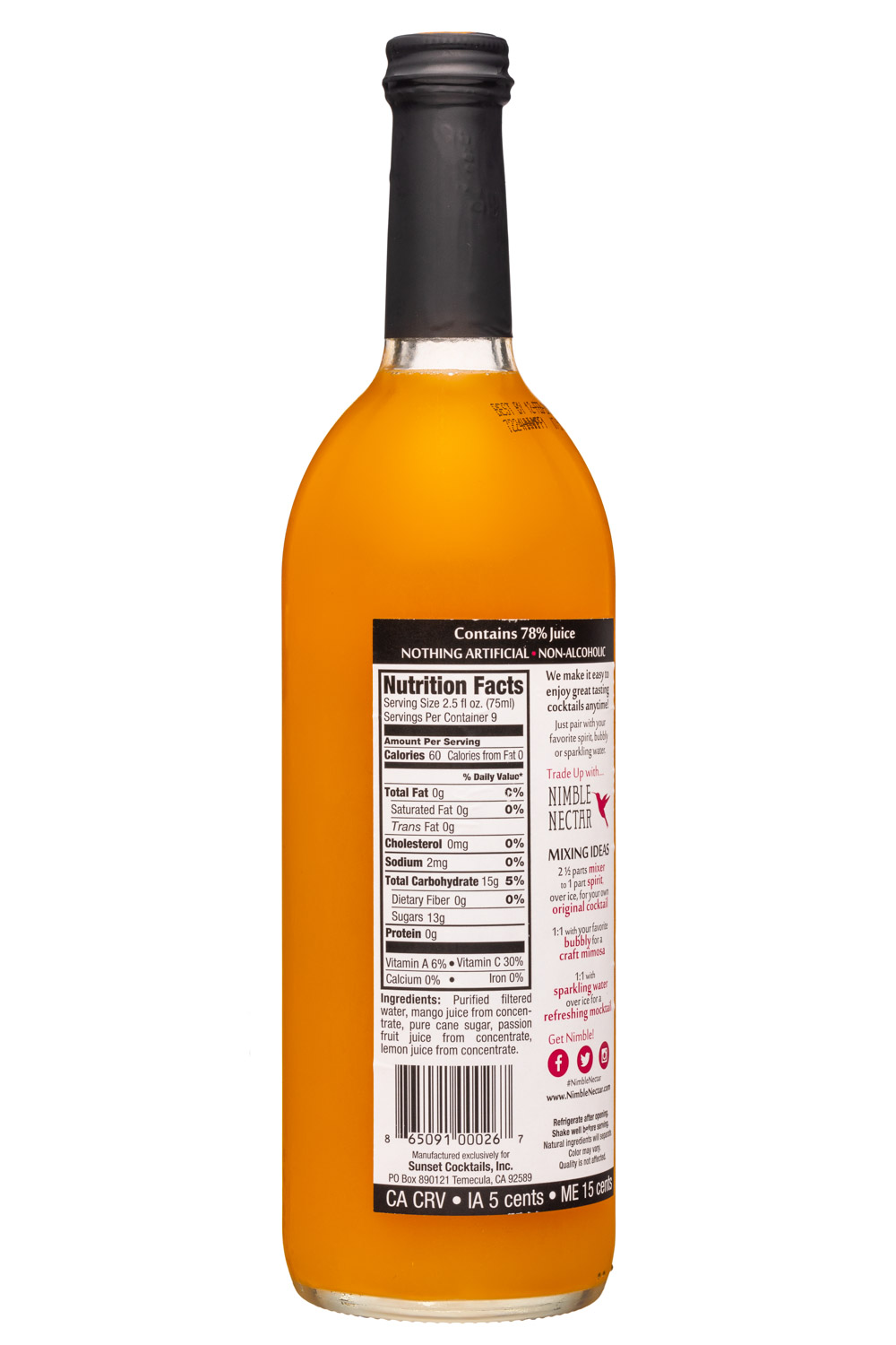 Nimble Nectar: NimbleNectar-25z-Mixer-MangoPassion-Facts