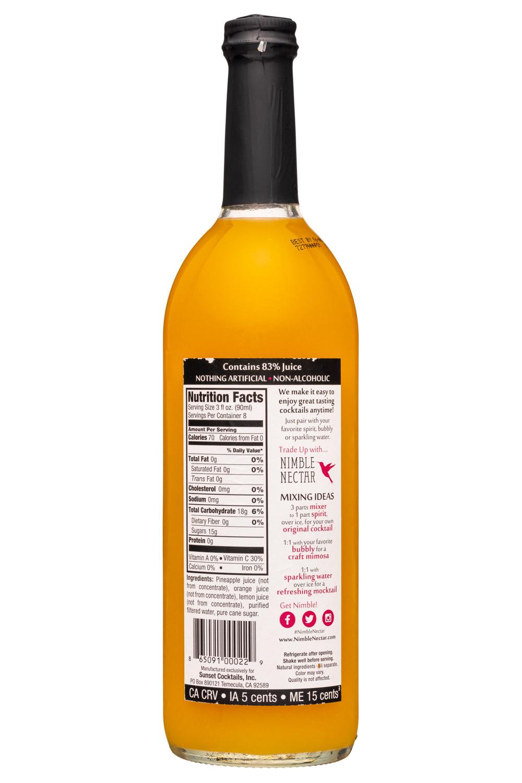 Nimble Nectar: NimbleNectar-25z-Mixer-PineappleOrange-Facts