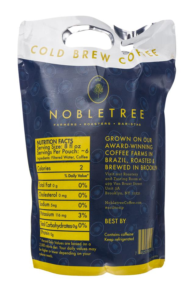 Nobletree Cold Brew Coffee: Nobletree-ColdBrew-DromedaireCuvee-Facts