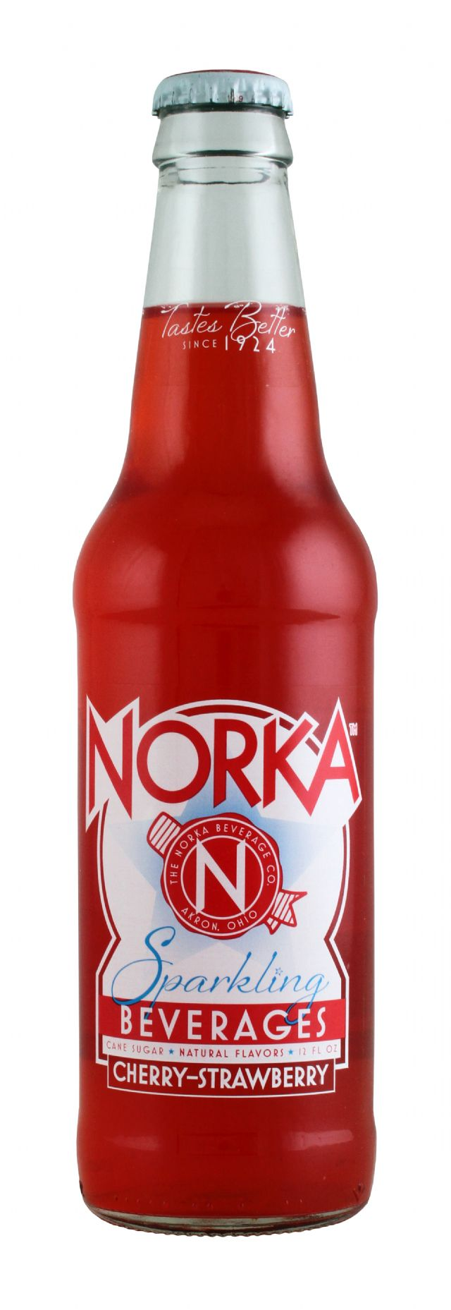 Norka Sparkling Beverages: Norka CherryStraw Front