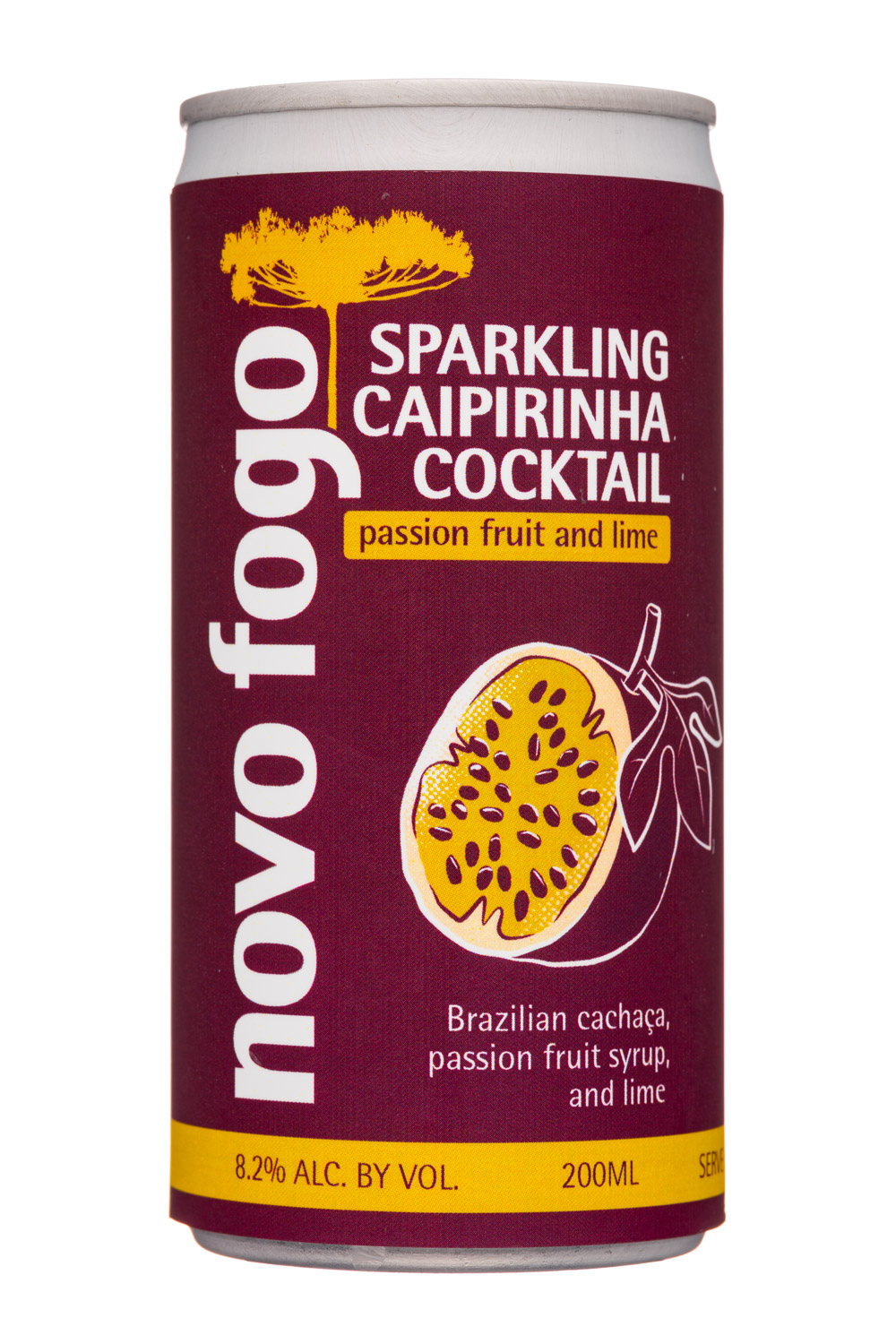 Sparkling Caipirinha Cocktail - Passion Fruit and Lime