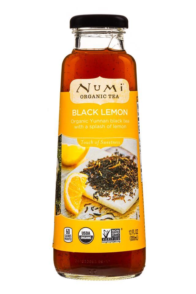 Numi Organic Tea: Numi-12oz-OrganicTea-BlackLemon-Front