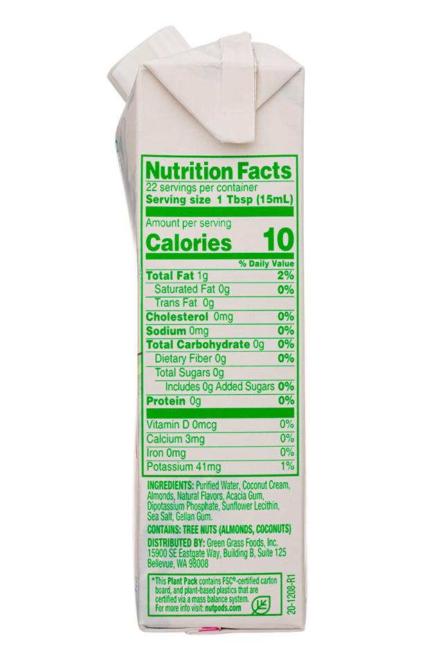 Nut Pods: NutPods-11oz-UnsweetCreamer-Caramel-Facts