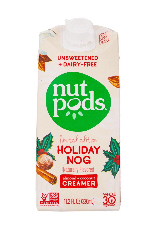 Nut Pods: NutPods-11oz-2020-LimitedEditionCreamer-HolidayNog