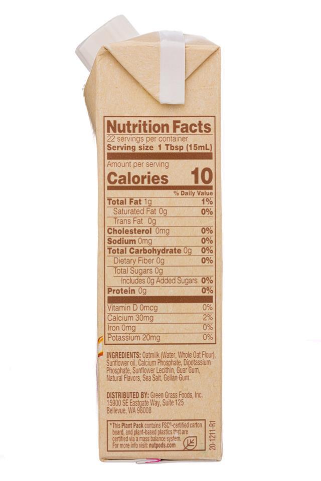 Nut Pods: NutPods-11oz-2020-OatCreamer-Original-Facts