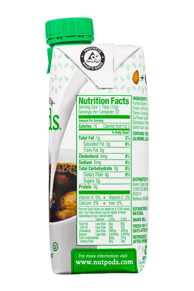 nutpods: Nutpods-11oz-DairyFreeCreamer-FrenchVanilla-Facts