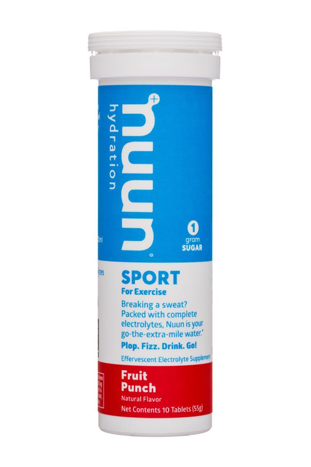 Nuun Sport: Nuun-55g-SportExercise-FruitPunch-Front