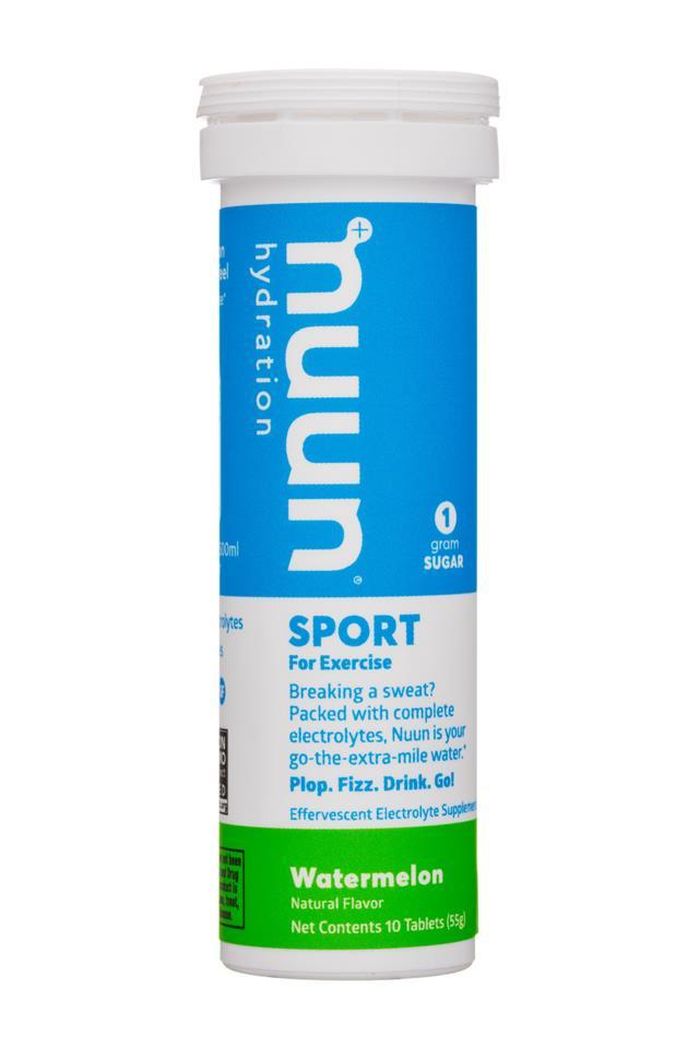 Nuun Sport: Nuun-55g-SportExercise-Watermelon-Front