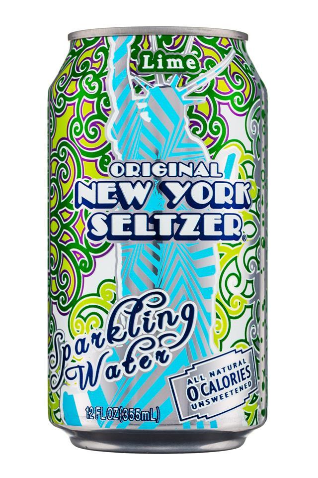 Original New York Seltzer: NYSeltzer-12oz-SparklingWater-Lime-Front