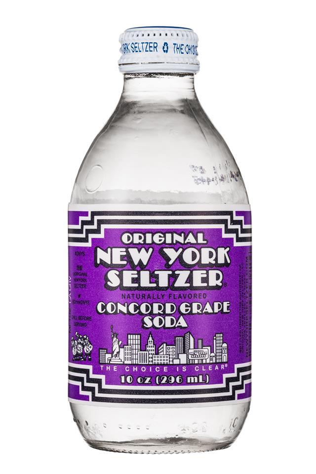 Original New York Seltzer: OriginalNYSeltzer-10oz-ConcordGrape-Front