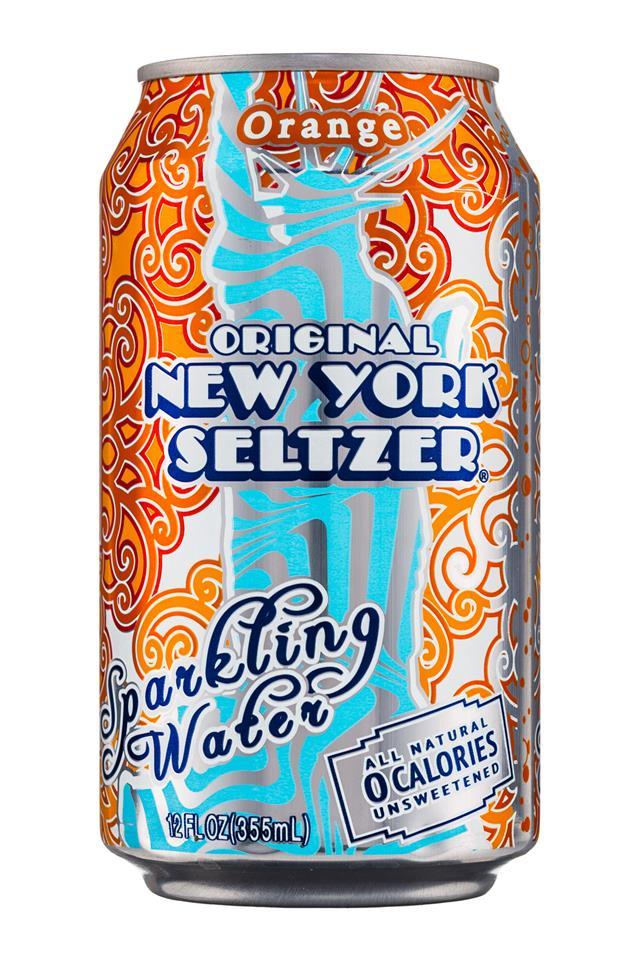 Original New York Seltzer: NYSeltzer-12oz-SparklingWater-Orange-Front