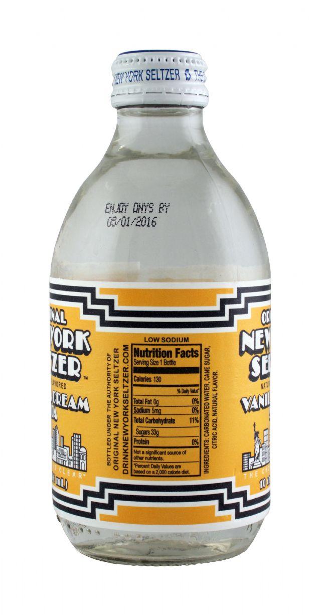 Original New York Seltzer: NYSeltzer Vanilla Facts