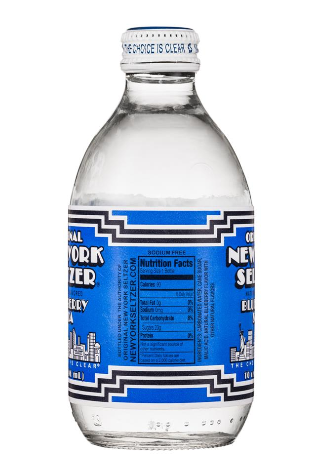 Original New York Seltzer: OriginalNYSeltzer-10oz-Blueberry-Facts