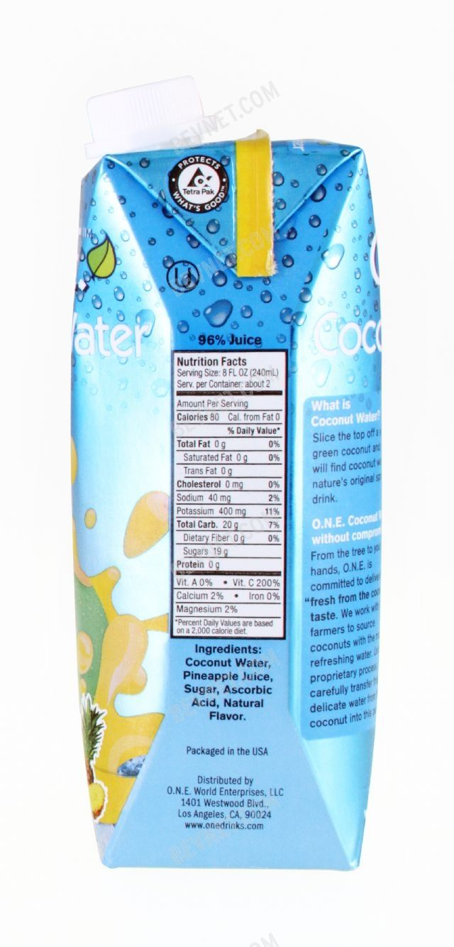 O.N.E. Coconut Water: