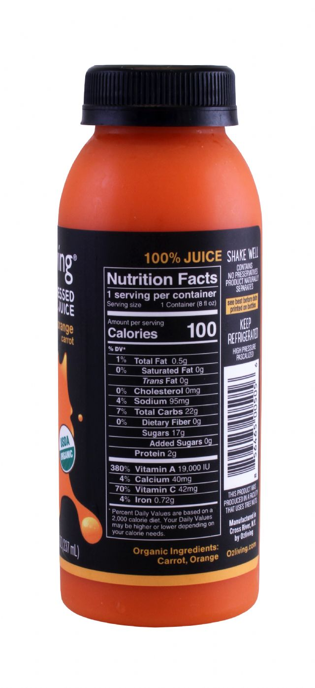 o2living Kids Juice: O2LivingSM_Orange_Facts