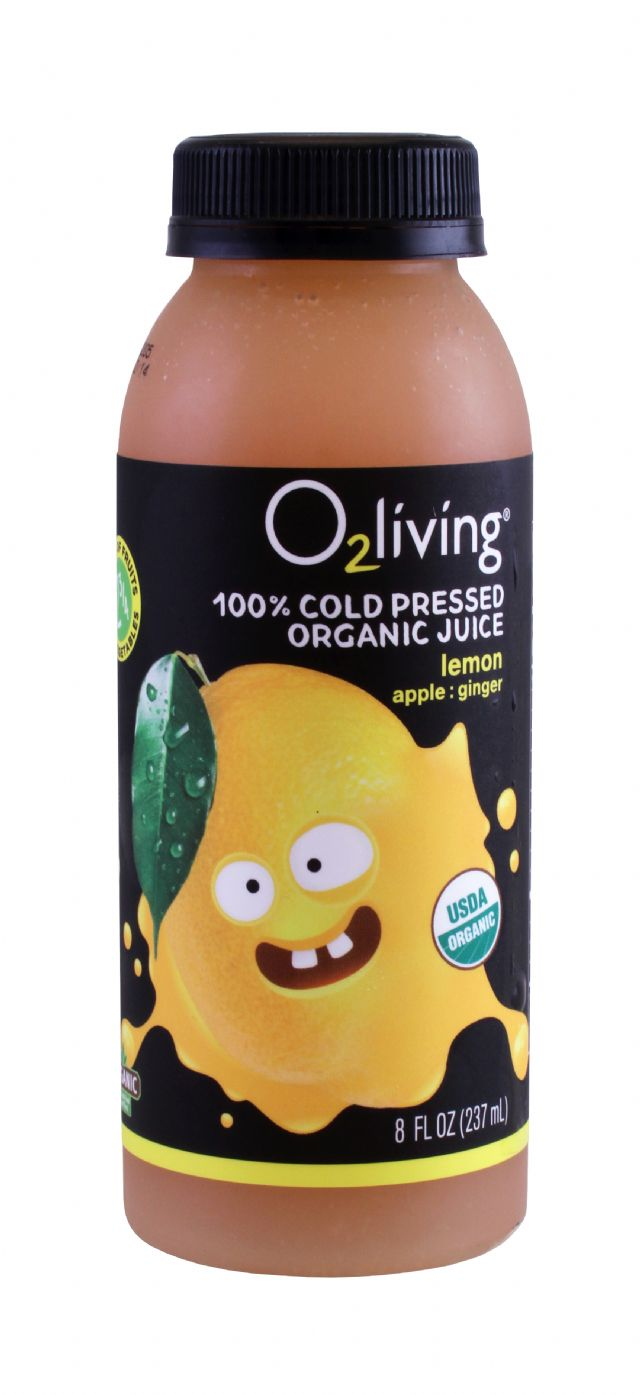 o2living Kids Juice: O2LivingSM_Lemon_Front