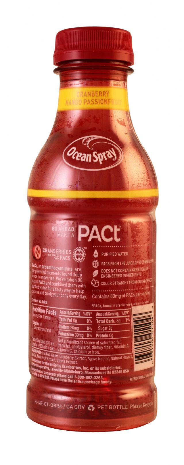 Ocean Spray PACt: OceanSpray PactMangoPass Facts