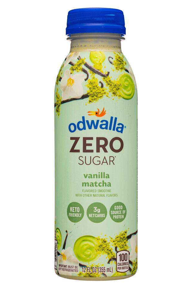 Odwalla Smoothies: Odwalla-12oz-ZeroSugarSmoothie-VanillaMatcha-Front