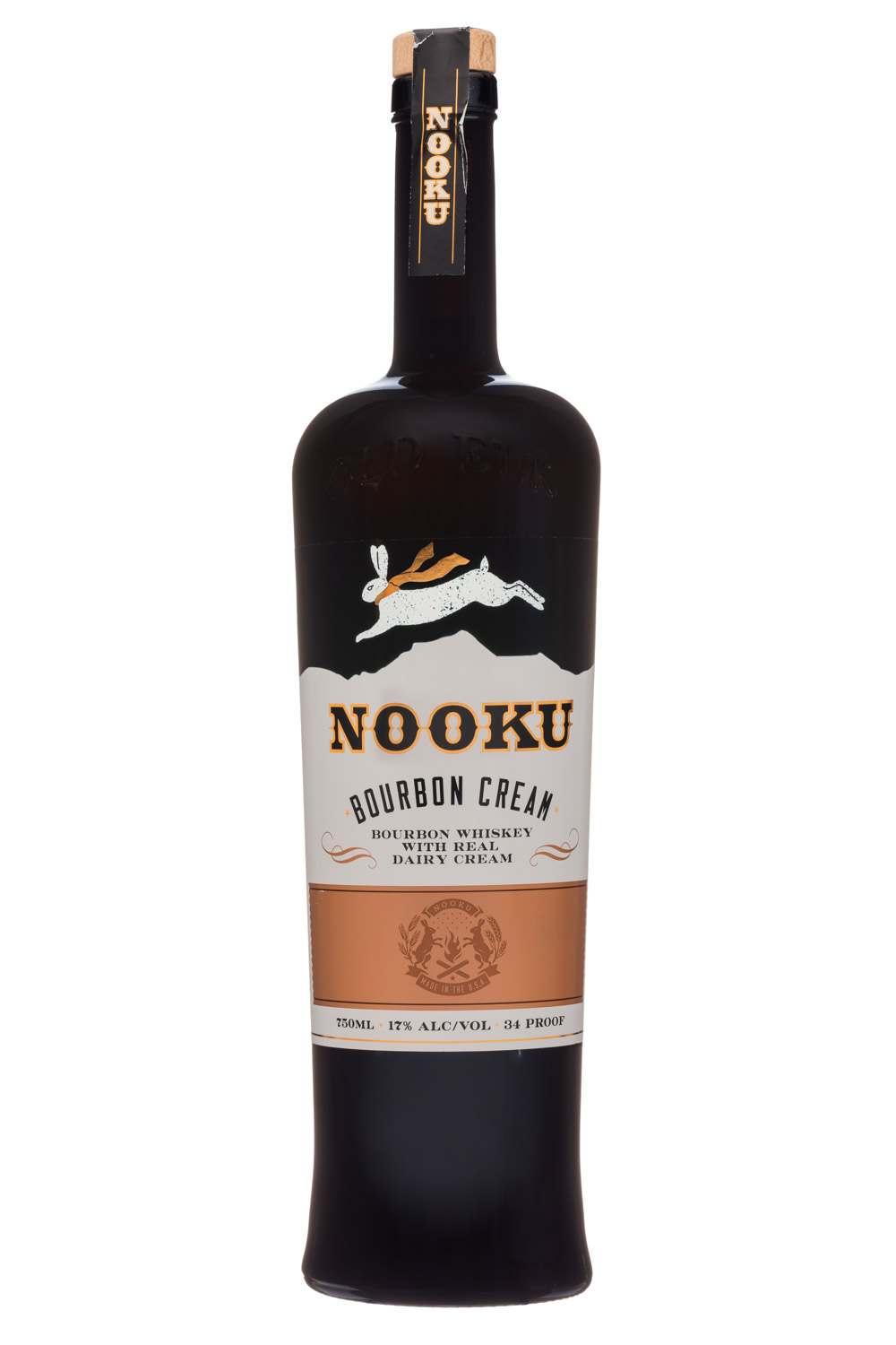 Old Elk Distilleries: OldElkDistilleries-750ml-Nooku-BourbonCream