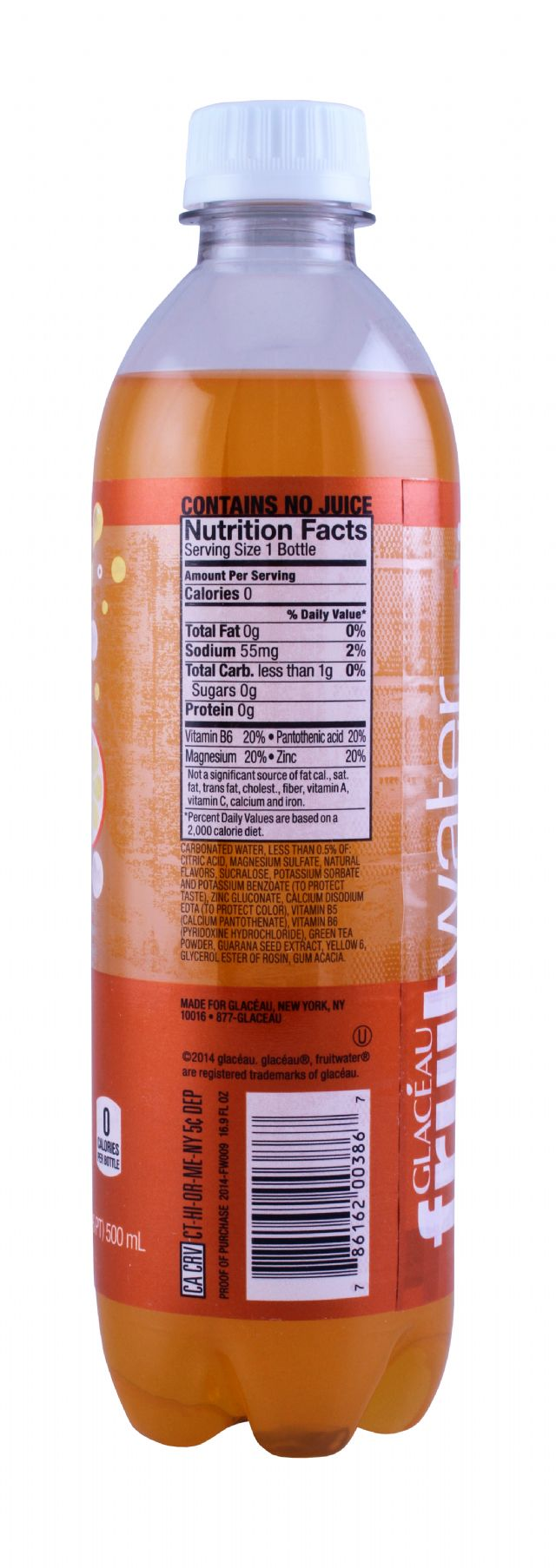Glaceau fruitwater: Glaceau OrangMango Facts