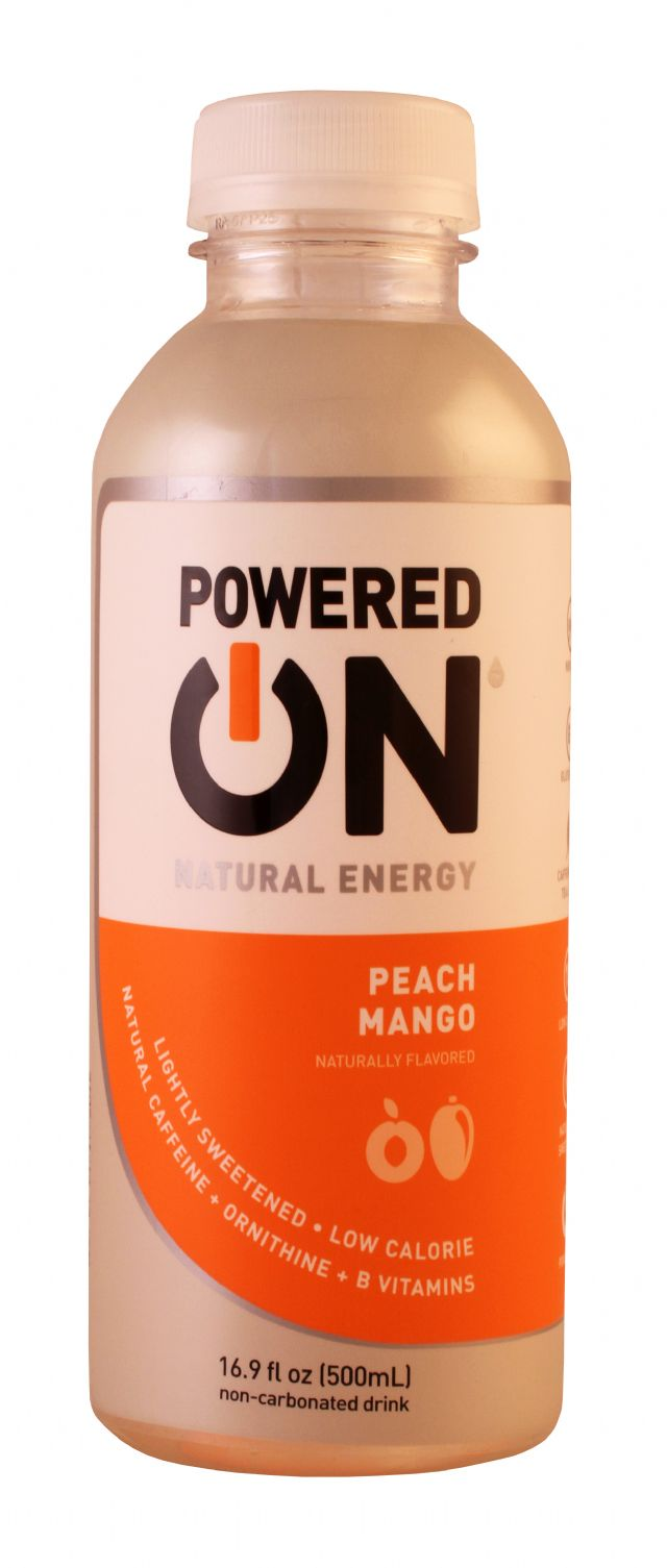 ON Beverages: PoweredON PeachMango Front