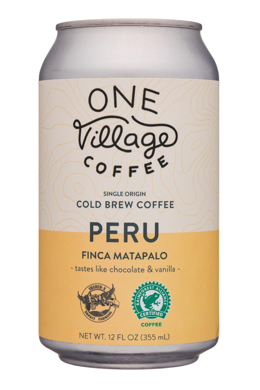 One Village Coffee: OneVillageCoffee-12oz-ColdBrew-Peru-Front