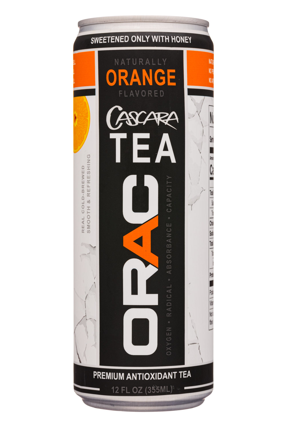 Orac: Orac-12oz-CascaraTea-Orange-Front